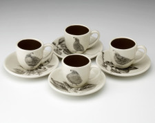 Espresso Set of 4: Quails
