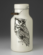 Jug with Handle: Screech Owl #1