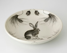 Shallow Bowl: Sitting Hare