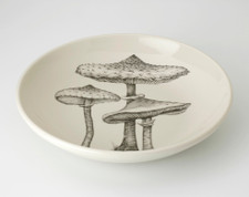 Shallow Bowl: Parasol Mushrooms