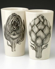 Tumbler: Artichoke - front & back views