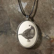 Ceramic Pendant - Quail - Laura Zindel Design