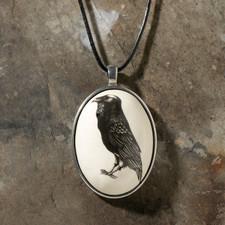 Ceramic Pendant: Raven