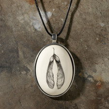 Botanical Maple Seed Ceramic Pendant - Laura Zindel Design