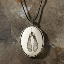 Botanical Maple Seed Ceramic Pendant - Laura Zindel Design
