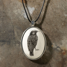 Ceramic Pendant: Starling
