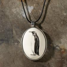 Ceramic Pendant: King Penguin - Laura Zindel Design