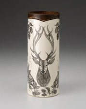 SMALL VASE - WOODLAND RED STAG LAURA ZINDEL DESIGN