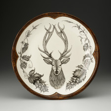 Small Round Platter: Red Stag
