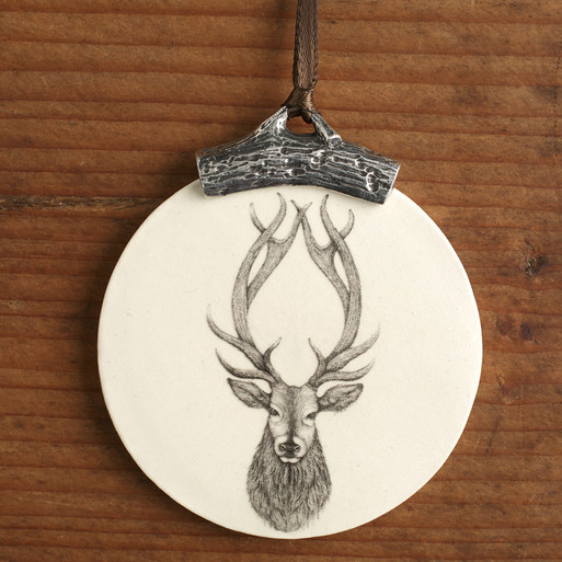 ORNAMENT: RED STAG