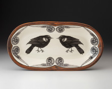 Rectangular Serving Dish: Red-Winged Blackbird
