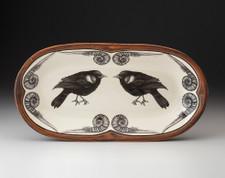 Rectangular Serving Dish: Red-Winged Blackbird