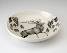 Shallow Bowl: Red Buck