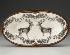 Oblong Serving Dish: Fallow Buck