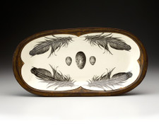 Rectangular Serving Dish: Raven Feather