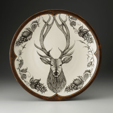 Large Round Platter: Red Stag