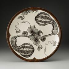 Large Round Platter: Curshaw Gourd