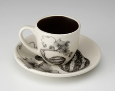 Espresso Cup and Saucer: Curshaw Gourd