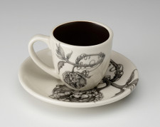 Espresso Cup and Saucer: Warty Gourd