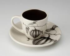 Espresso Cup and Saucer: Acorn Squash