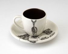 Espresso Cup and Saucer: Fallow Doe