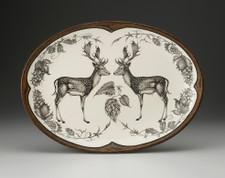 Oval Platter: Fallow Buck