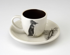 Espresso Cup and Saucer: Rockhopper Penguin