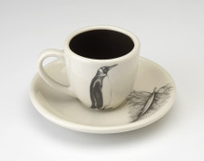 Espresso Cup and Saucer: King Penguin