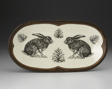 Rectangular Serving Dish: Crouching Hare