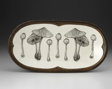 Rectangular Serving Dish: Parasol Mushroom