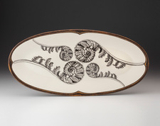 Fish Platter: Coiled Wood Fern