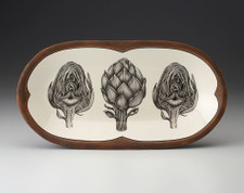 Rectangular Serving Dish: Artichokes