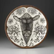 Large Round Platter: Angus Bull