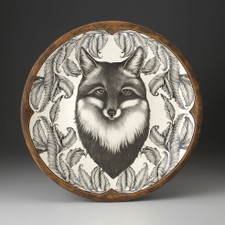 Large Round Platter: Fox Portrait