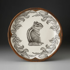 SMALL ROUND PLATTER - CHIPMUNK 