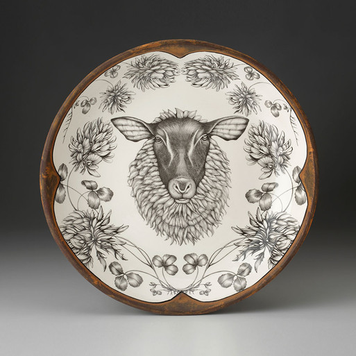 SMALL ROUND PLATTER - Suffolk Sheep 