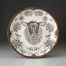 SMALL ROUND PLATTER - Suffolk Sheep LAURA ZINDEL DESIGN