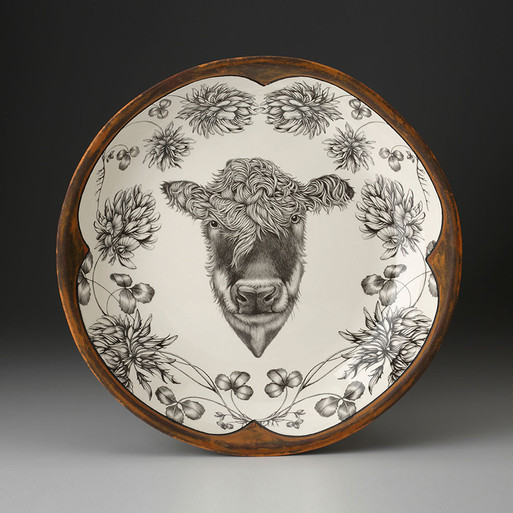 SMALL ROUND PLATTER - Hereford Cow