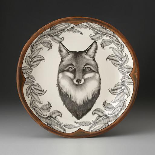 SMALL ROUND PLATTER - Fox LAURA ZINDEL DESIGN