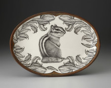Oval Platter: Chipmunk #3