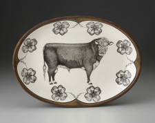 Oval Platter: Hereford Bull