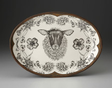 Small Oval Platter: Suffolk Sheep