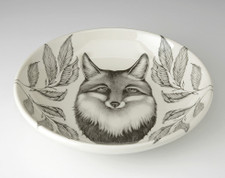 Shallow Bowl: Fox Portrait