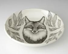 Shallow Bowl: Fox Portrait