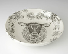 Shallow Bowl: Suffolk Sheep