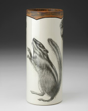SMALL VASE - WOODLAND Chipmunk #1 LAURA ZINDEL DESIGN