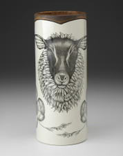 Large Vase: Suffolk Sheep