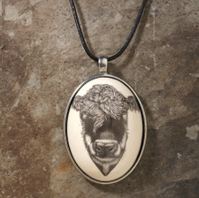 Ceramic Pendant: Hereford Cow