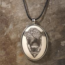 Ceramic Pendant: Hereford Cow