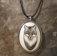 Ceramic Pendant: Fox Portrait